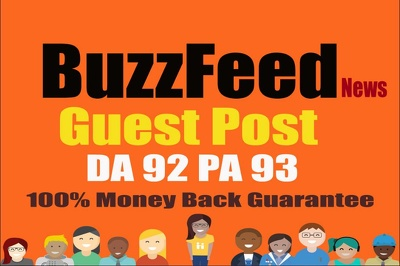 Publish Quality article on BuzzFeed With DA 92 PA 93 Permanent B