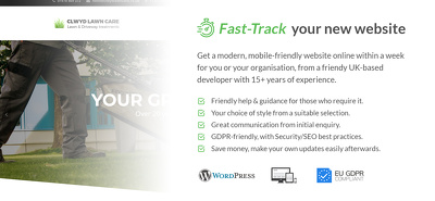 Fast-Track website creation for your organisation with guidance