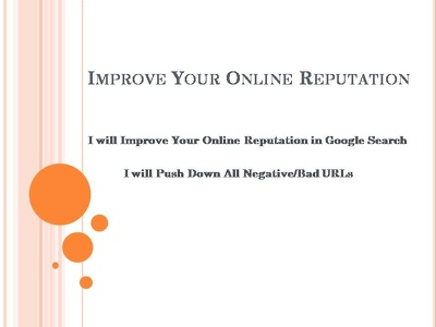 Push down all types of negative URLs from search engine