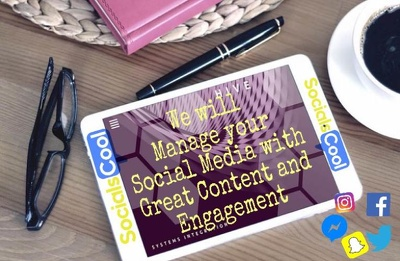 Manage one social media profile with great content