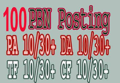 100 High PA/DA TF/CF Home Page PBN Backlinks