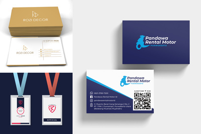 Design business card or id card or stationery
