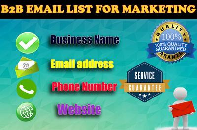 provide B2B Fresh Email list for marketing (1000)