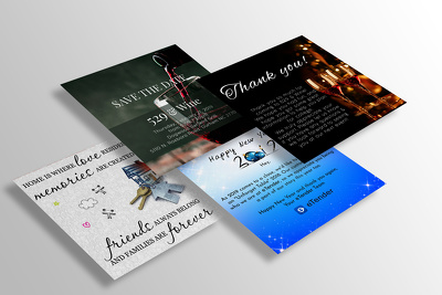 Design a greeting card, postcard or invitation