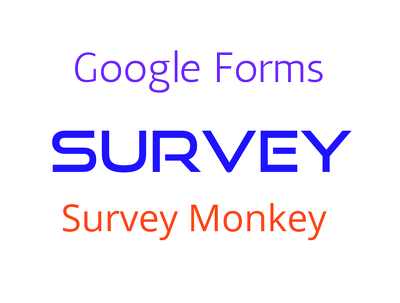Create surveys,event or quiz using google forms or SurveyMonkey