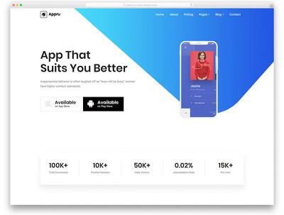 Create an app landing page
