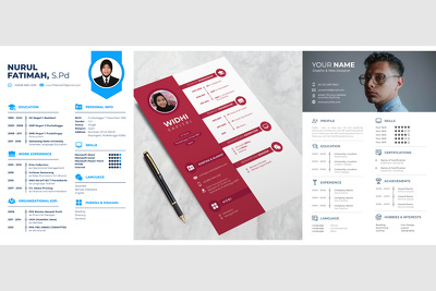 Design cv / resume design with icons included