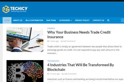 Guest post on Techicy.com Tech website - DA 50