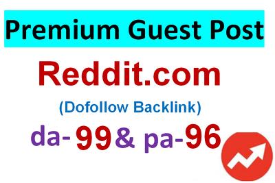 Publish with DOFOLLOW backlinks on REDDIT- DA 99,PA 96