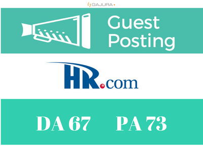 Place a Premium Guest Post on HR.com DA 67 PA 73