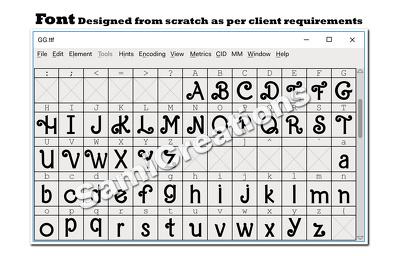 Design new font, modify existing font or handwriting font