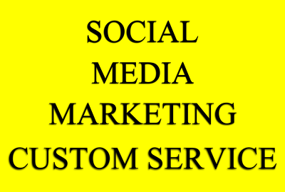 Provide Custom Service For Social Media Promotion