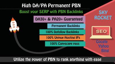 Build 5 High PA/DA Homepage PBN Backlinks to Skyrocket your SERP
