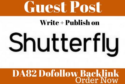 Write &publish Guest Post On ShutterFly DA82
