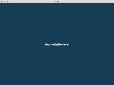 Turn your website into a desktop application for Mac or PC