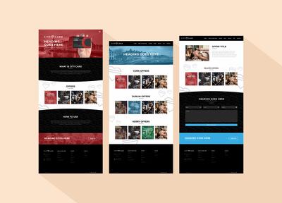 Design your webpage mockups or PSD / Sketch templates