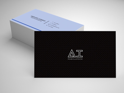 Design you a minimalist and professional business card
