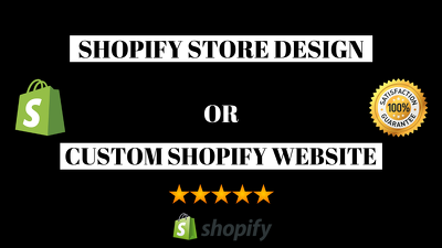 Build you a clean and professional shopify site