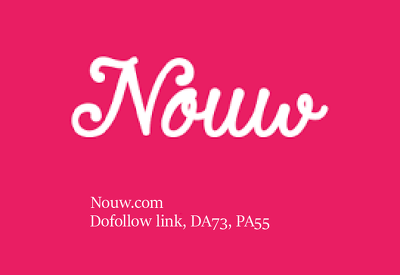 Write And Publish Guest Post On Nouw with a dofollow link, DA73