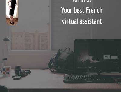 Provide virtual assistance in French for a day