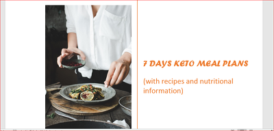 Create a 7- Days Keto Meal Plan For You