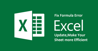 I Will Identify And Fix Existing Errors On Excel Formulas