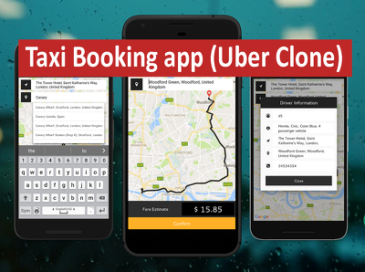 Make cab booking application like UBER