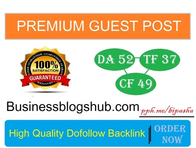 Write & Publish on Businessblogshub.com | Dofollow & DA 52