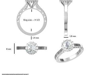 Make high end 3D CAD of your jewellery.