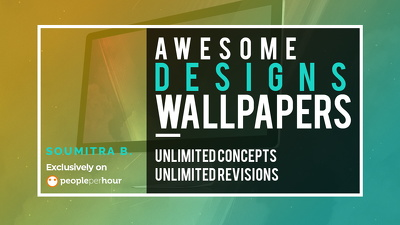 Design awesome wallpapers