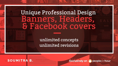 Design unique and professional Banners,Headers,Facebook cover