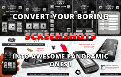 Design a panoramic android mobile app screenshots