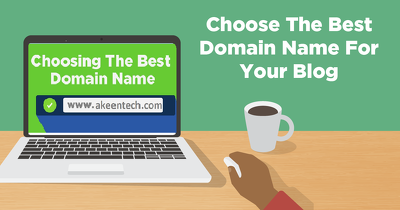 Choose a good domain name for your website