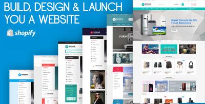 BUILD, DESIGN & LAUNCH you a Premium Design Shopify Website