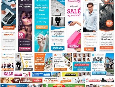 Design Modern Web banner ads design