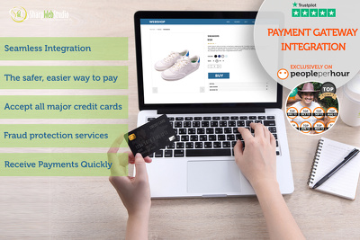 Integrate the Payment Gateway on the website