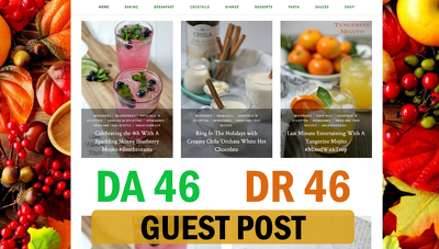Guest Post On Health & Recipe Blog  DA 46 With Dofollow Link