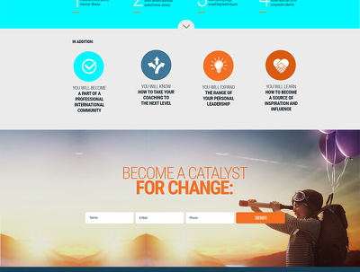 Design a Homepage / landing page  and provide you  PSD file