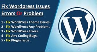 Fix wordpress issues for you