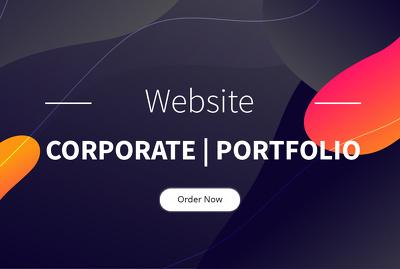 Develop professional corporate portfolio website