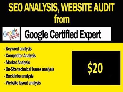 seo analysis, website audit & Custom SEO Solutions  for leads