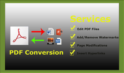 Convert 10 PDFs to Jpeg/Excel/word format and vice versa