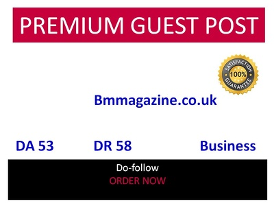 Guest Post in Bmmagazine - Bmmagazine.co.uk DA 53 Traffic 115000