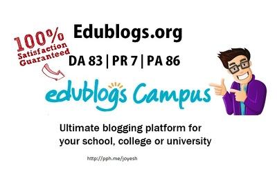 Guest Post in Edublogs.org PR7 DA 84 (Dofollow Link)