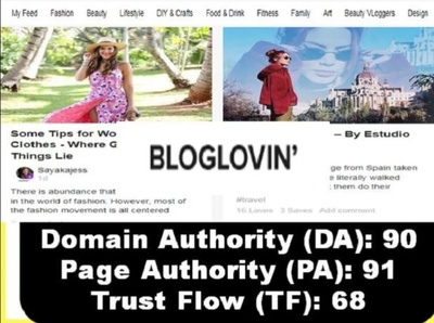Publish High Quality Guest Post On Bloglovin only today offer