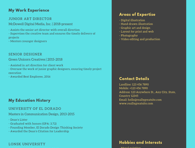 Write and design your professional resume