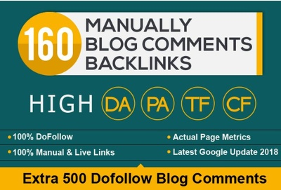 Do 160 High Pa Da Blog Comments Backlinks Manually