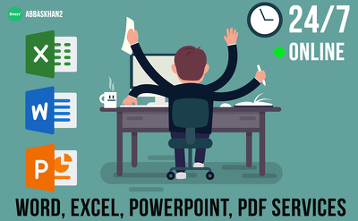 Edit, redesign, format Microsoft Word, Excel,PowerPoint and PDF