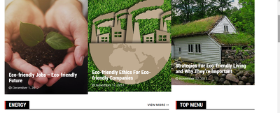 Guest post on 3 High quality sites  (Energy & Green So BLOG)