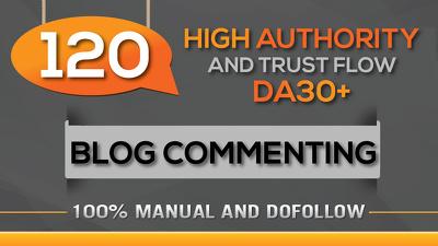 Build 120 Dofollow Blog Commenting Backlinks - Unique domains